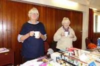 Jackie and Irene having a rest from all that bookselling